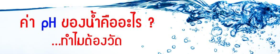 ค่า pH ในน้ำ คืออะไร ?  ทำไมต้องวัด?